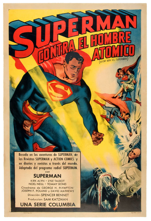 atom man vs superman movie poster
