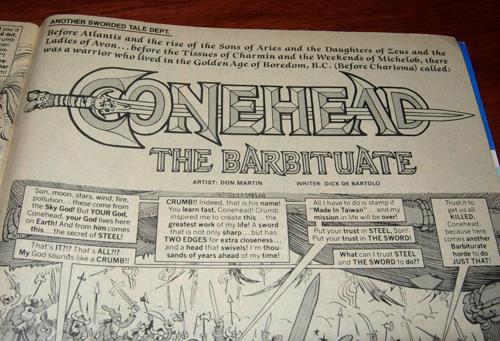 mad magazine - conehead the barbituate