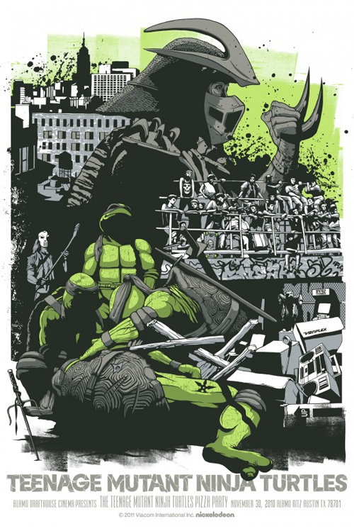 mondo tmnt teenage mutant ninja turtles poster