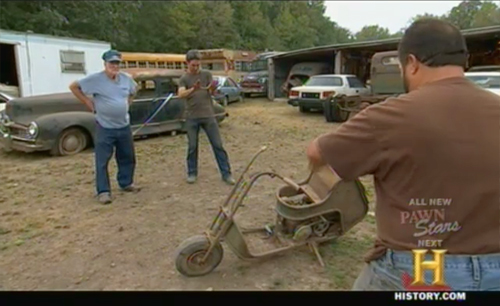 american pickers - keep out - moto-scoot