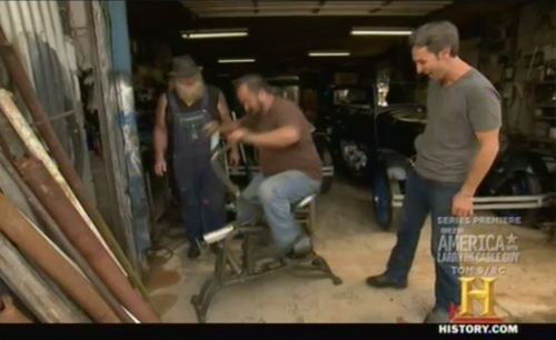 american pickers - keep out - exercise bike