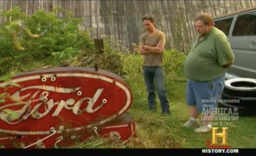 american pickers - keep out - ford sign