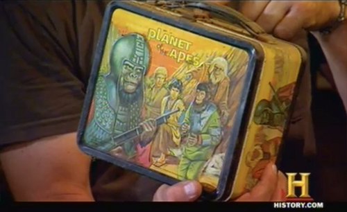 american pickers - keep out - planet of the apes lunchbox