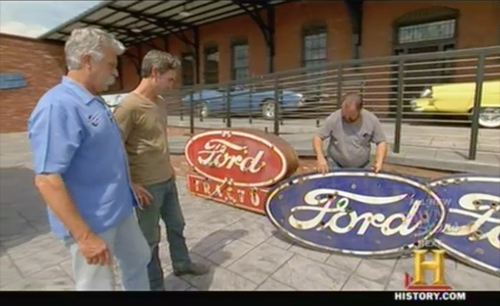 american pickers - keep out - ford signs