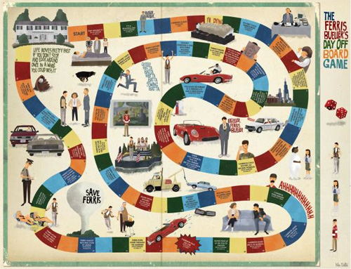 ferris bueller board game by Max Dalton - Studio 88