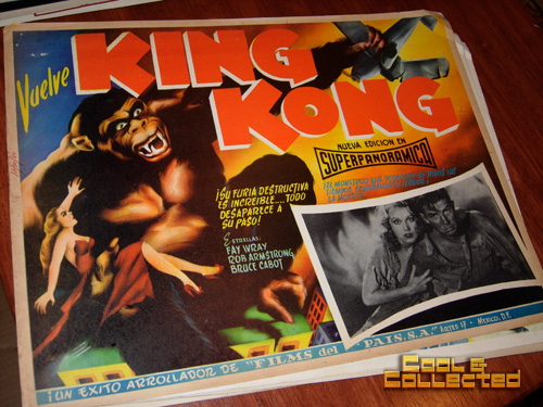 king kong Mexican lobby card - movie poster