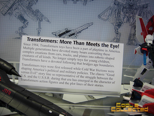 Transformers exhibit at the Smithsonian Air and Space Museum Annex