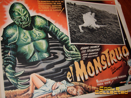 vintage mexican monster movie lobby card