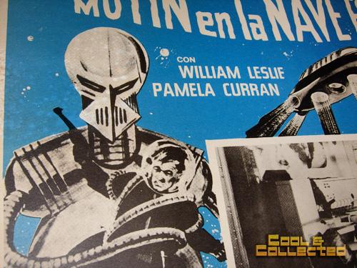 vintage mexican sci-fi movie lobby card