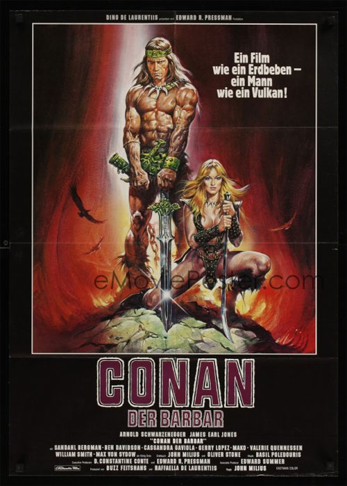 German Conan Movie Poster