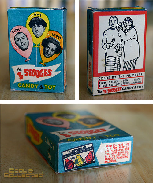 vintage three stooges candy box