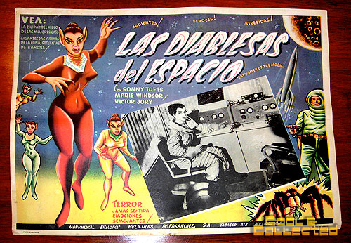monster movie Mexican lobby card