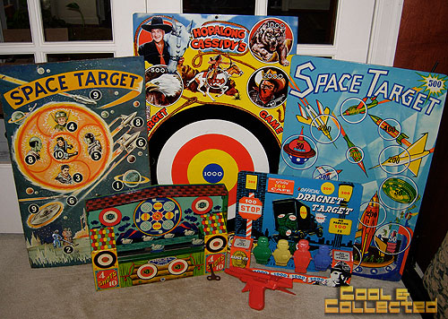 collection of vintage target games