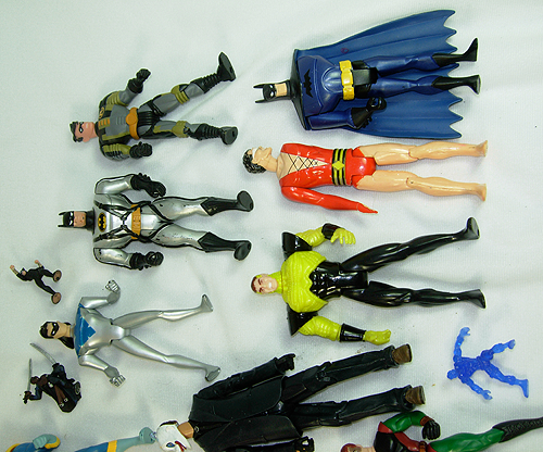 Massive Collection of DC Action Figures for sale