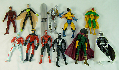 Huge collection of Marvel classics action figures