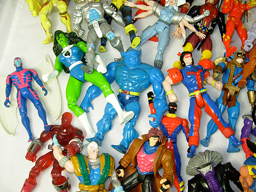cool collection of marvel action figures for sale