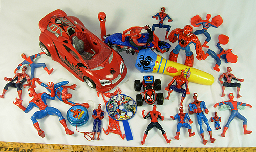 huge collection of spiderman toys and action figures for sale
