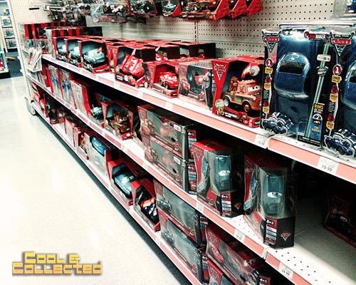 Disney Pixar Cars - Toys R Us aisle