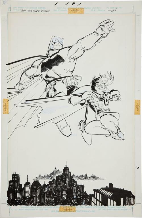 original Frank Miller Dark Knight illustration