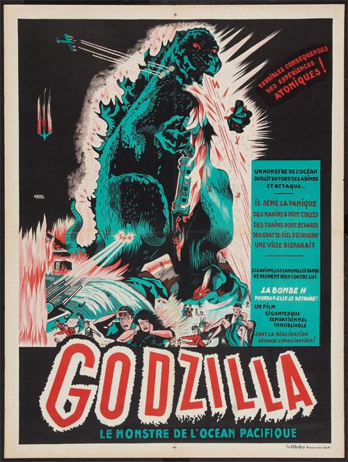 Toho Godzilla 1957 French movie poster