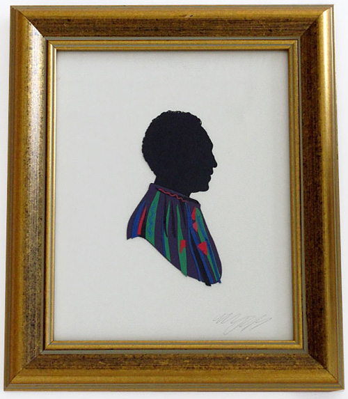 Olly Moss papercut of Cliff Huxtable