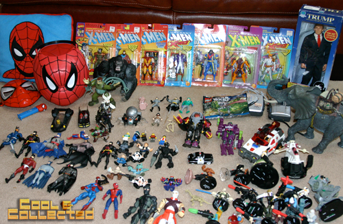 xmen action figures and spiderman toys