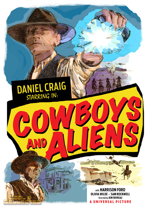 cowboys and aliens poster by brian adams