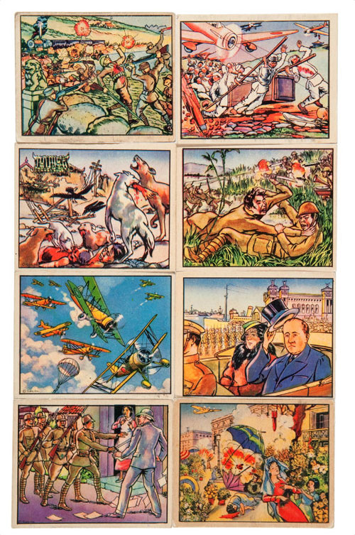 hakes horrors of war gum cards