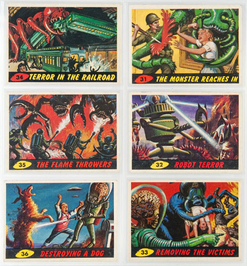 hakes mars attacks trading cards