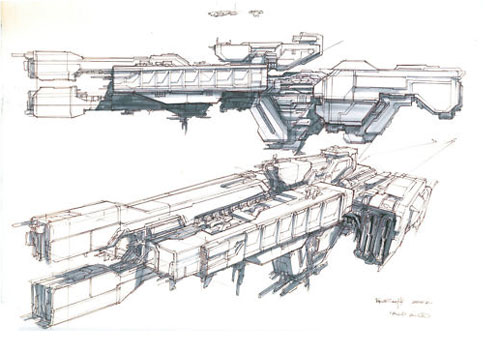 Halo in amber clad - concept art