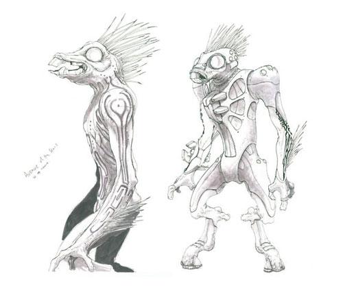 Halo jackals - concept art