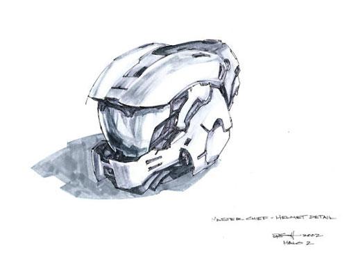 halo master chief helmet - concept art
