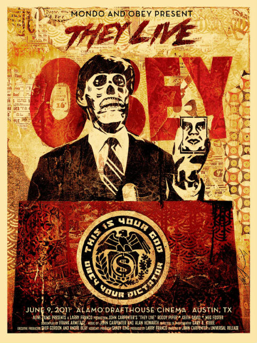mondo obey Shepard Fairey poster