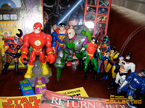 yard sale collection of action figures