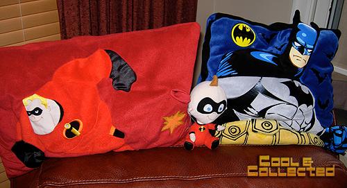 yard sale batman and Incredibles pillows