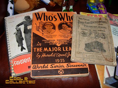 yard sale vintage books
