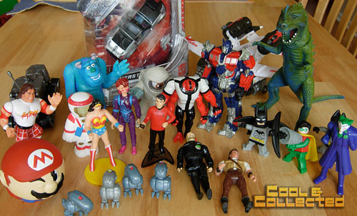 yard sale haul - collection of action figures