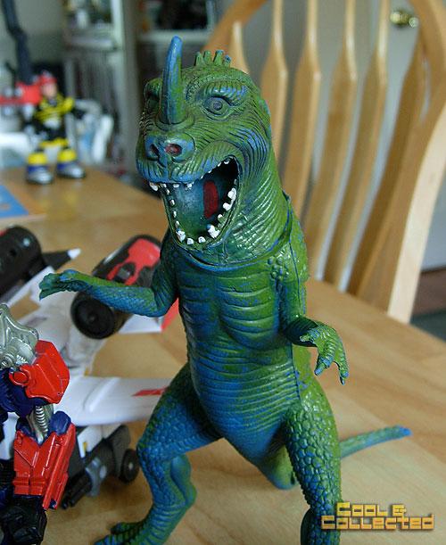 yard sale haul - dinosaur monster godzilla