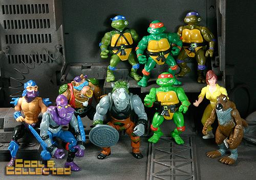 1988 Teenage Mutant Ninja Turtles TMNT complete set of figures