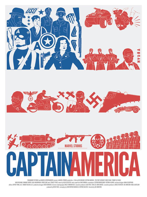 captain america poster dave williams