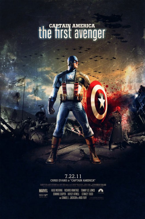 captain america poster fan made