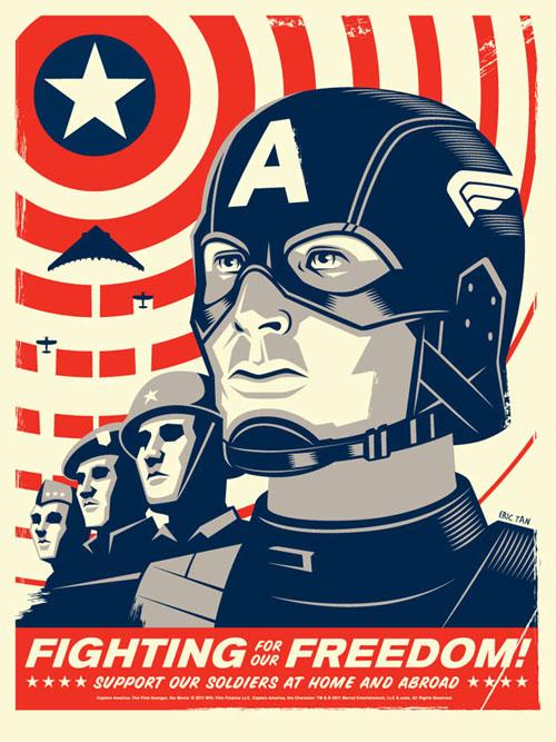 captain america movie poster mondo eric tan
