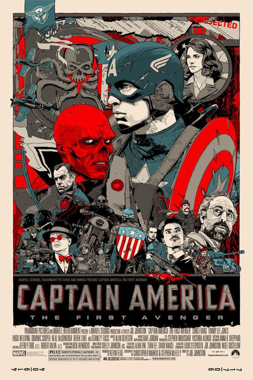 captain america movie poster mondo tyler stout