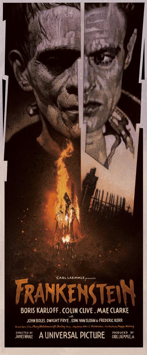 Mondo Frankenstein poster by Drew Struzan