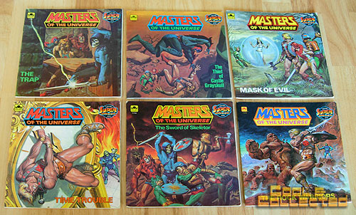 collection of heman masters of the universe children's books