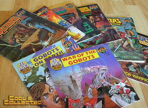 heman masters of the universe and gobots children's books