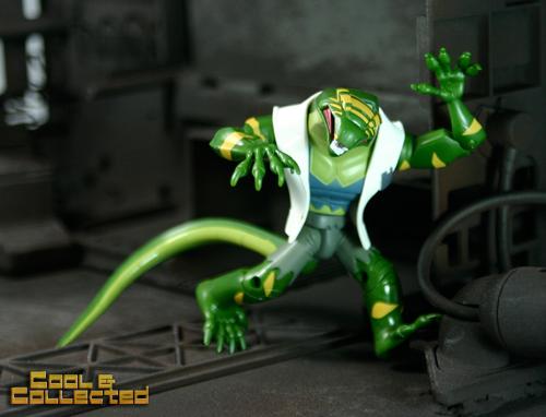 Spiderman animated lizard action figure