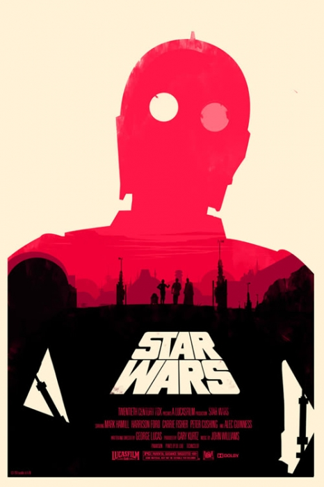 Mondo Star Wars poster by Olly Moss