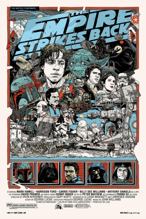 Mondo Star Wars The Empire Strikes Back poster by Tyler Stout