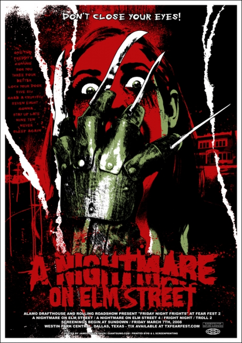 Mondo A Nightmare on Elm Street poster by James Rheem Davis